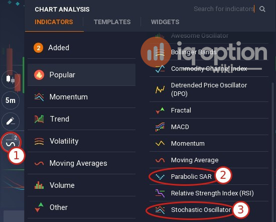 Selecting indicators for the strategy