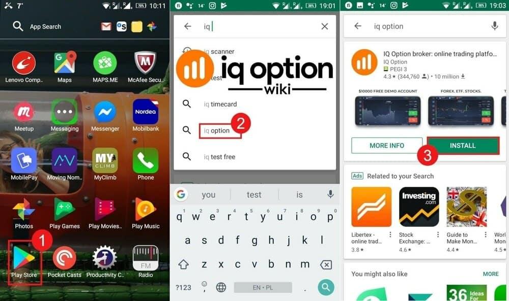 downloading mobile app iq option