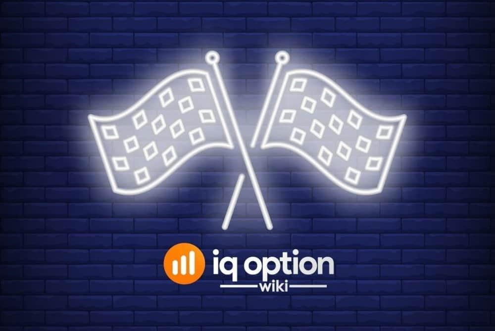 Flag pattern on IQ Option