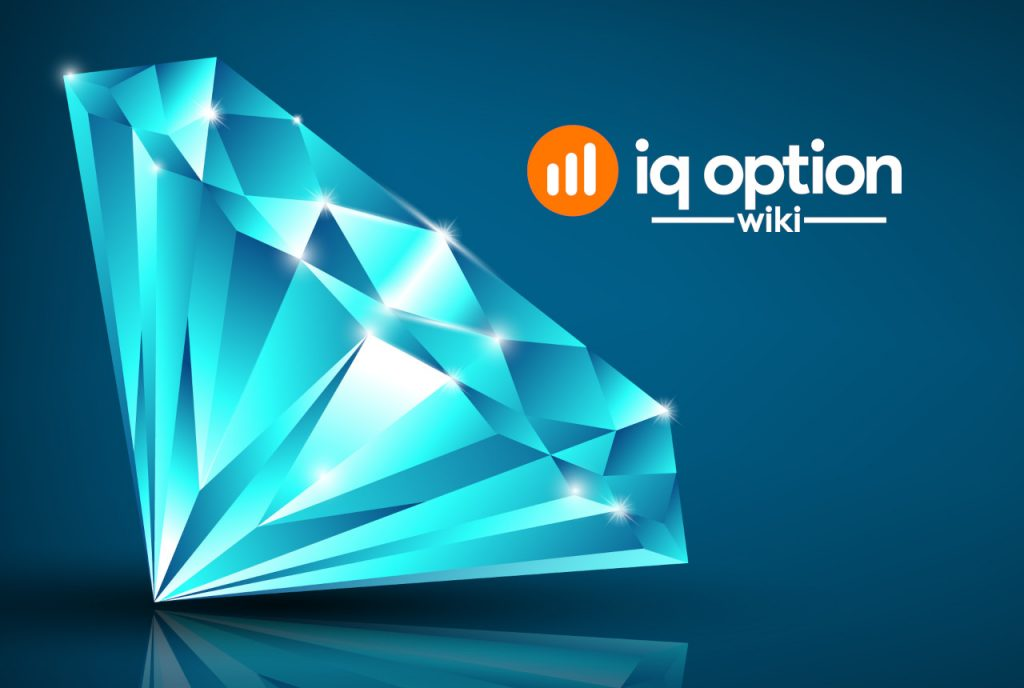 diamond pattern on IQ Option platform