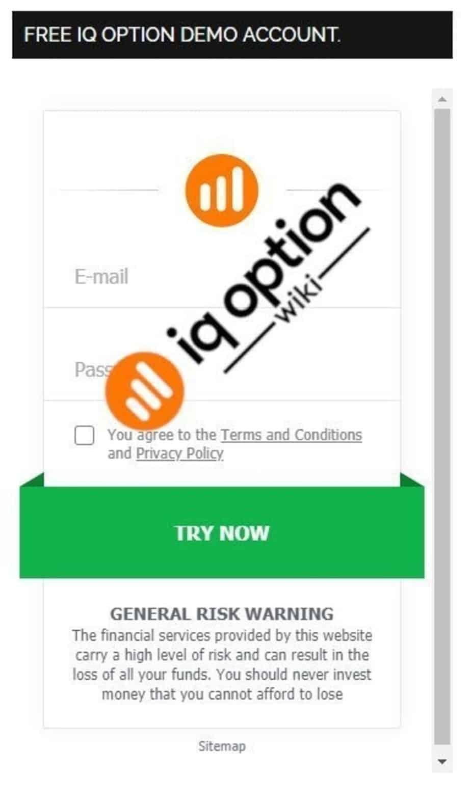 Register account on IQOptionWiki.com