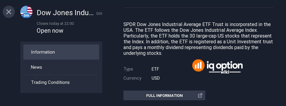 You can get detailed information on any ETF by clicking info icon